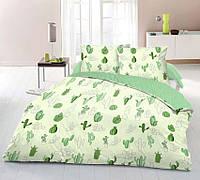 Красивое и качественное постельное белье евро размер, кактус