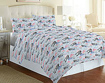 Комплект красивого постельного белья полуторка, парашут