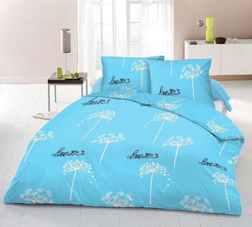 Комплект красивого постельного белья, двухспалка, одуванчики