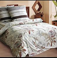 Красивое и качественное постельное белье, євро, коричневое