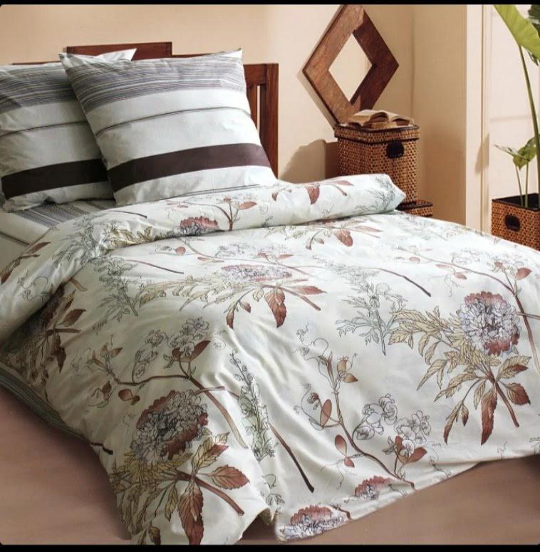 Качественное и красивое постельное белье семейка, коричневое