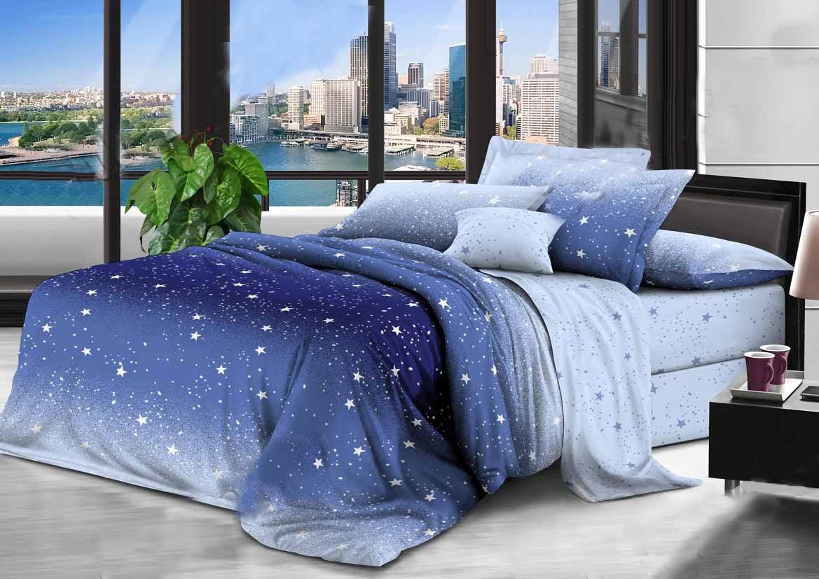Комплект красивого и качественного постельного белья, размер євро, меркурий