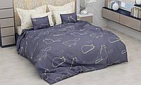 Отличное постельное белье для себя и на подарок, полуторка, котик