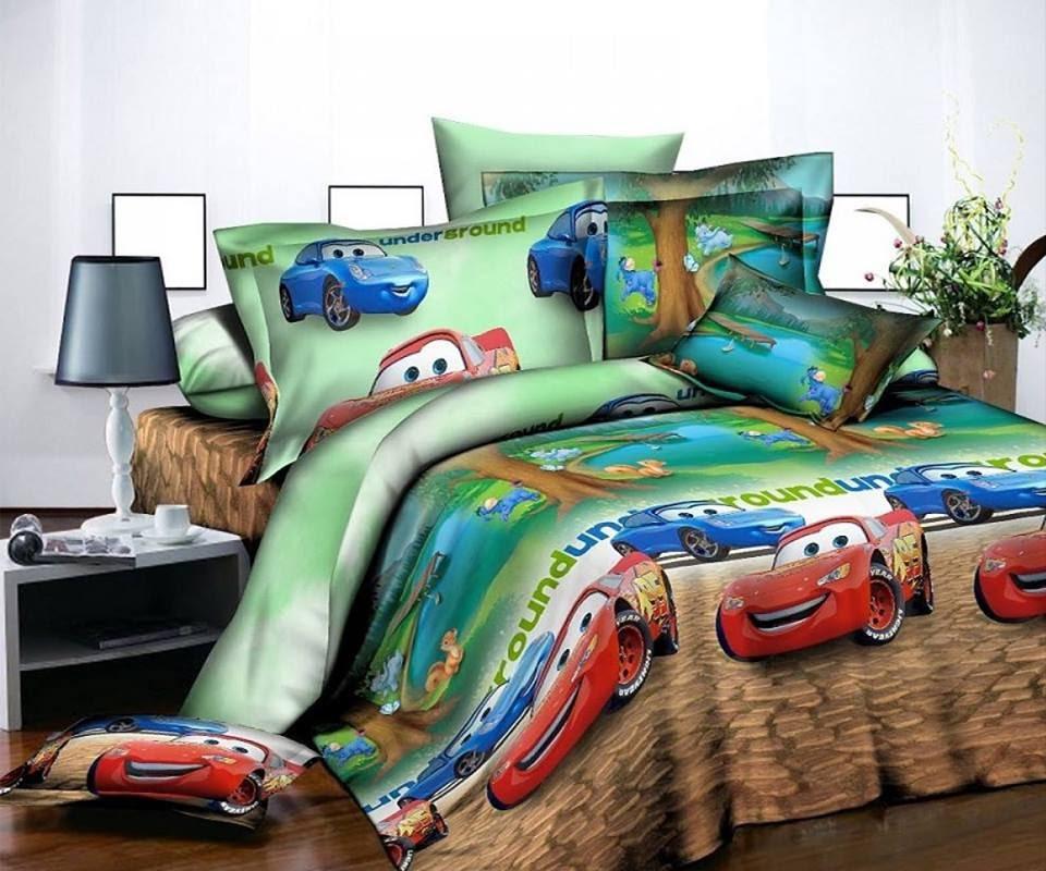 Стильное детское постельное белье отличного качества, двухспалка, маквин форсаж