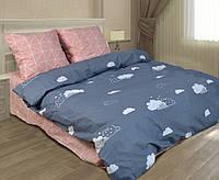 Отличное и качественное постельное белье, полуторка, облачко