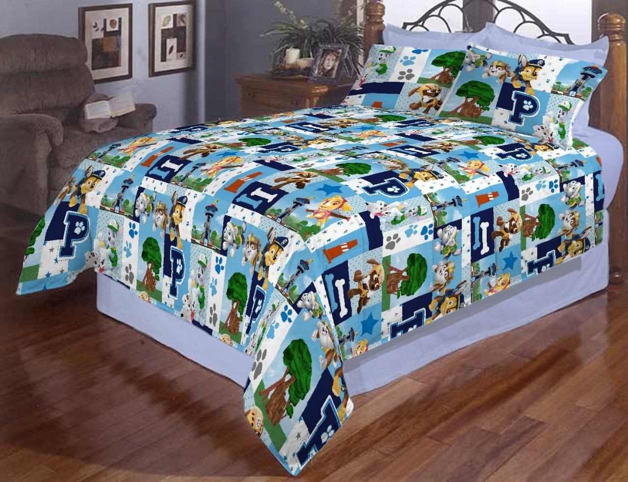 Стильное постельное белье отличного качества, двухспалка, детское, патруль