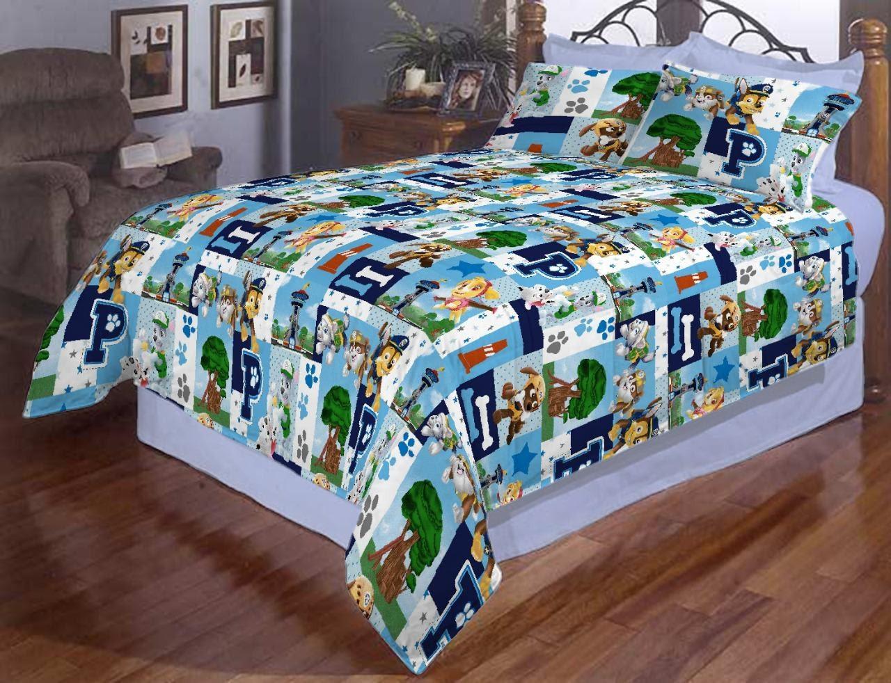 Красивое и качественное  постельное белье евро размер, детское, патруль