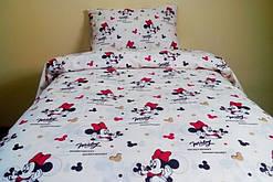 Яркое детское постельное белье отличного качества, полуторка, мики маус