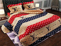 Стильное и качественное постельное белье евро размер, луивитон