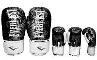 Перчатки боксёрские, кожа, ELAST BO-4227-BK (р-р 10-12oz) (чёрный)