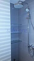 Полочка стеклянная с креплениями (комплект)., фото 1