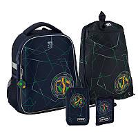 Рюкзак укомплектованный Kite Education Football Темно-синий (SET_K20-555S-2)