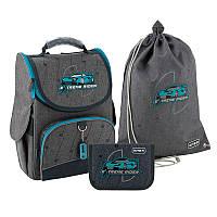 Рюкзак укомплектованный Kite Education Rider Серый (SET_K20-501S-3)