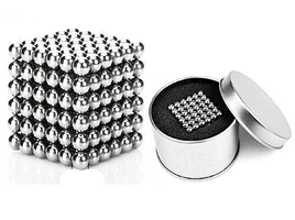 Неокуб, 216 шариков серебряный