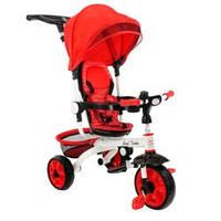Велосипед детский трехколесный с ручкой телескоп Best Trike DT128 красный