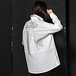 Женская базовая свободная рубашка с надписью (в расцветках), фото 4