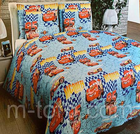 Полуторный комплект постельного белья 150/220 с детским рисунком,одна нав-ка 70/70,ткань сатин 100% хлопок, фото 2