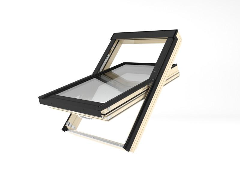 Мансардне вікно Lux Energy Обертальне Fakro FTT U8 Termo 55x78
