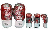 Перчатки боксёрские, кожа, ELAST BO-4227-R (р-р 10-12oz) (красный)