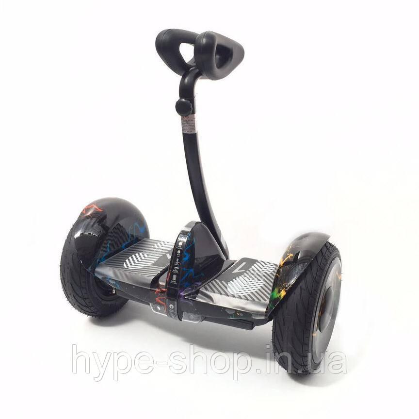 Гироскутер SMART BALANCE Ninebot Mini Черный с молниями