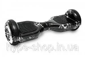 Гироборд 6,5 дюймов Smart Balance Гироскутер Сигвей Цвет - Черный с Молниями
