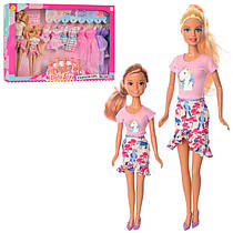 Лялька типу барбі Дефа Defa 29 см з одягом і донька, сукні, взуття, 8447