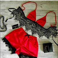 Атласная пижама женская Dear Lover Karen Красный M