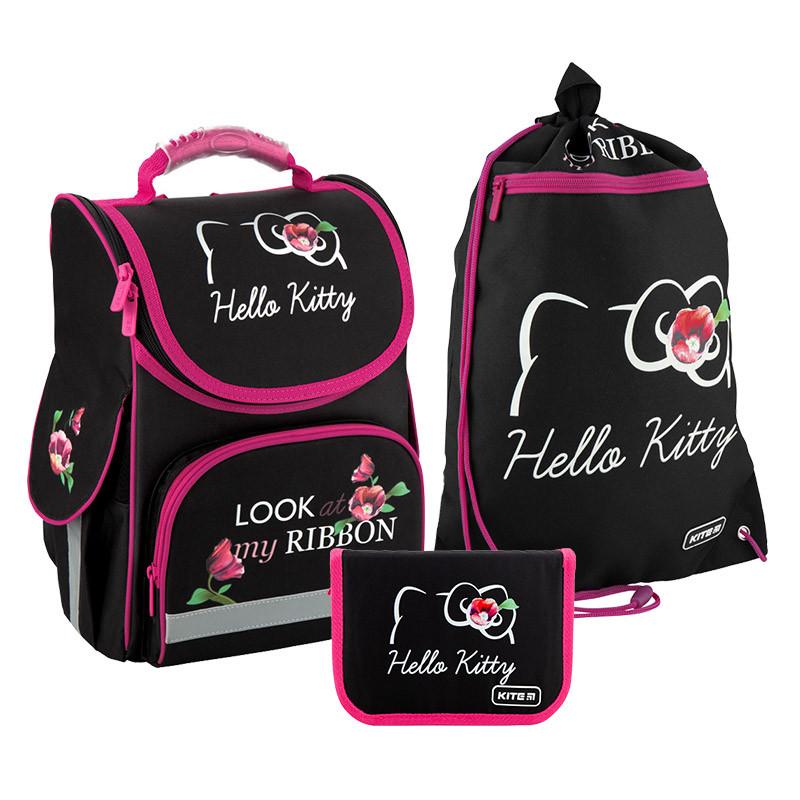 Рюкзак укомплектованный Kite Education Hello Kitty Черный (SET_HK20-501S)