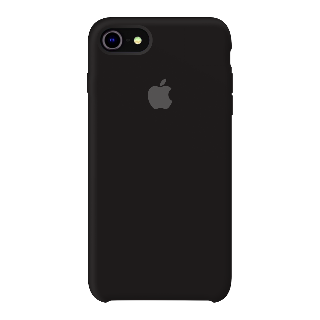Силиконовый чехол на айфон/iphone 7/8 black черный