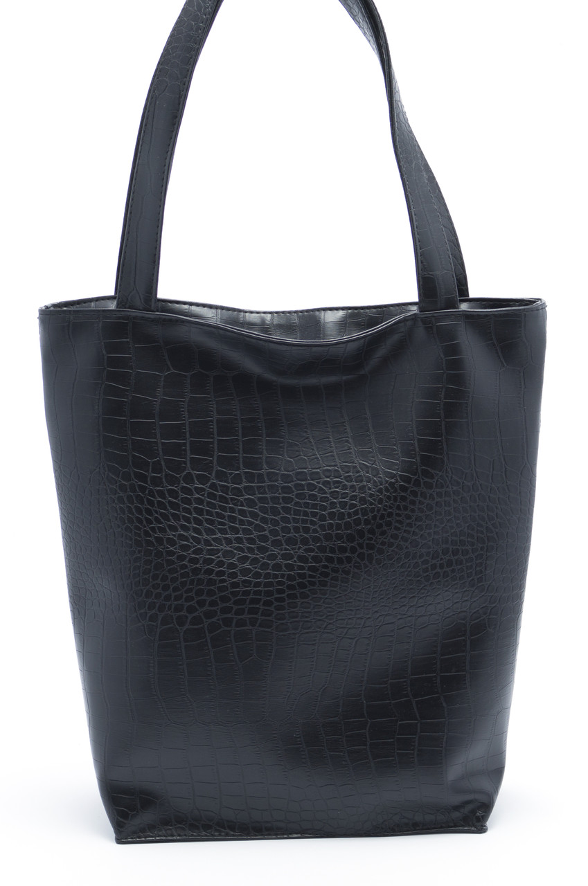 Объемная черная женская сумка Стандарт art. SB Украина