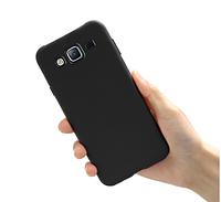 Чехол силиконовый Ультратонкий для Samsung Galaxy J7 J700 черный
