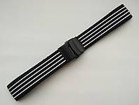 Каучуковый ремешок для часов. Черно-белый. 22 мм, фото 1