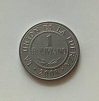 1 боливиано Боливия 2008 г., фото 1