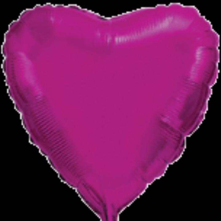 """Фольгована кулька серце малиновий 32"""" Flexmetal"""