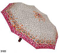 Женский зонт полуавтомат абстракция розовый