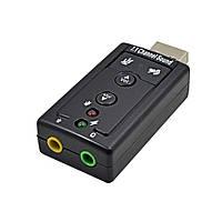 Звуковая карта USB 2-кан. TRY Sound кнопки управления чёрная новая гарантия 12мес!