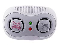 Универсальный ультразвуковой отпугиватель насекомых и грызунов AR166B питание от сети 220V, фото 1