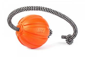 Игрушка для собак средних пород мячик со шнуром 7 см Collar Liker Cord 7 (Лайкер Корд)