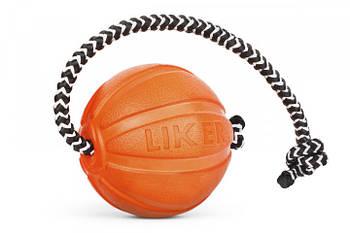 Игрушка для собак мелких пород мячик со шнуром 5 см Collar Liker Cord 5 (Лайкер Корд)