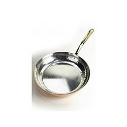 Медная сковорода с латунной ручкой диаметр 24 см