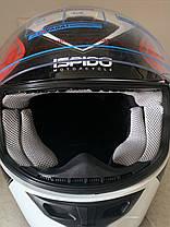 Мото шлем оригинал Европа закрытый Ispido (Польша) сертифицирован, фото 3