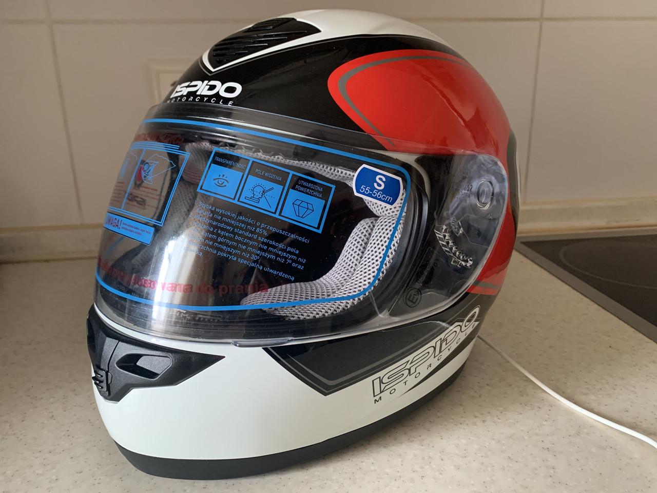 Мото шлем оригинал Европа закрытый Ispido (Польша) сертифицирован