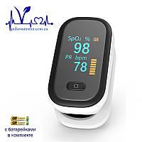 Пульсоксиметр на палец для измерения пульса и сатурации крови YONKER YK-80B BOXYM oFit2 с батарейками