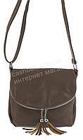 Стильна невелика жіноча наплічна сумка, Б/Н art. 0007 кава з молоком, фото 1