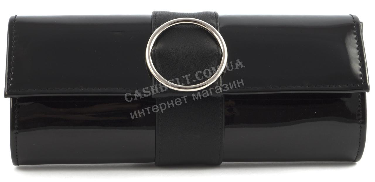 Стильный элитный лаковый небольшой женский клатч для выпускного art. 7793 черный