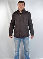 Качественная теплая мужская зимняя куртка на меху (коричневая)