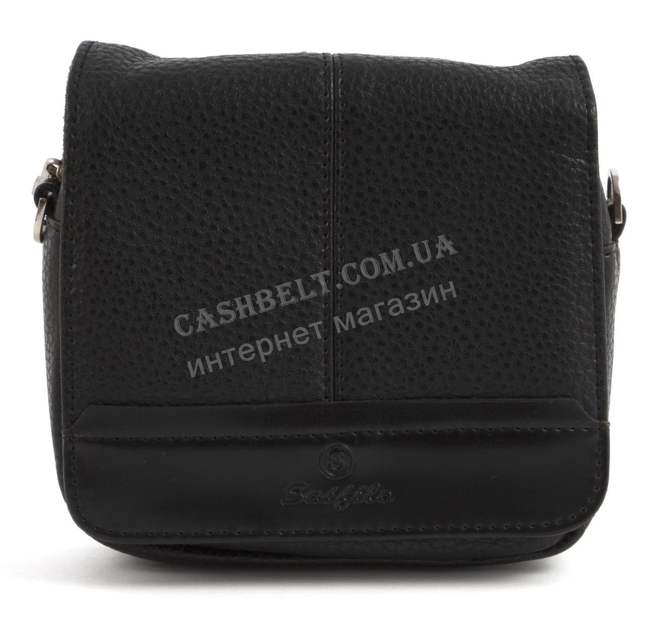 Удобная маленькая прочная мужская сумка с качественной PU кожи SAIFILO art. SF092-2 черный