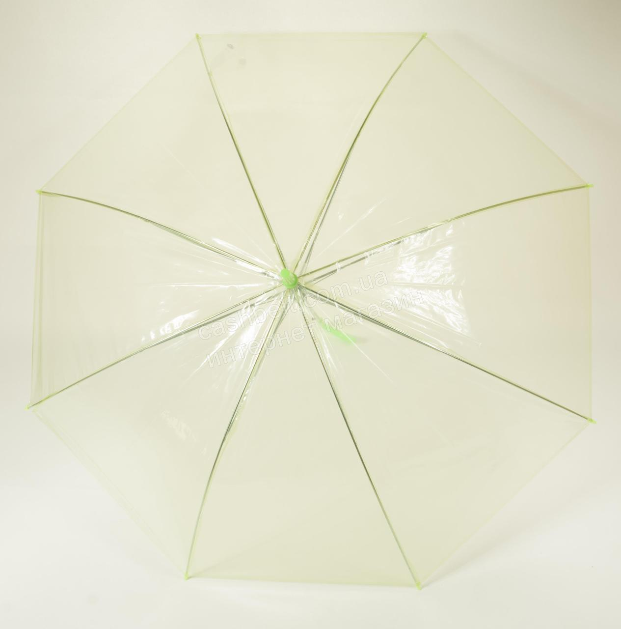 Цікавий підлітковий механічний парасольку тростину, купол з щільною клейонки PAOLO ROSI art. салатовий (100828