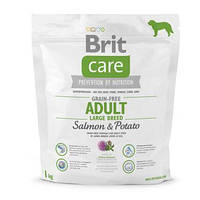 Brit  Care GF Adult Large Breed Salmon & Potato 1 kg (д/собак весом от 25 кг)