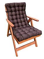 Матрас на кресло Кедр на Ливане стеганный серия Garden 105x48x7 см Коричневый (1058)